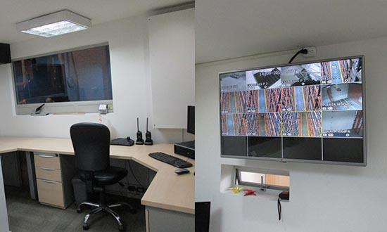 Oficina de operaciones control CCTV primer piso