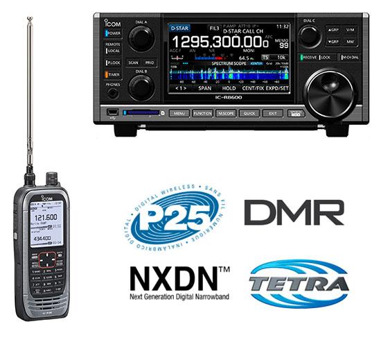 pequeños radios portátiles, radios móviles para vehículos, equipos de estación base y sistemas completos de comunicación